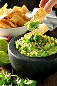 Best Ever Proper Guacamole -  a Chef's recipe, one tiny change to the usual method that makes this an INCREDIBLE guacamole!