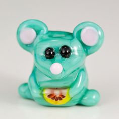 Green Mouse Lampwork Glass Bead by maybeads on Etsy, $16.00