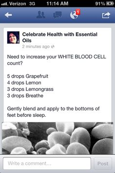 Increasing white blood cell count to help your body fight off that illness! Yl Oils, Doterra Essential Oils, Young Living Oils, Young Living Essential Oils, White Blood Cells Increase, Essential Oils For Cancer, White Blood Cell Count, Oils For Life, Sick Kids