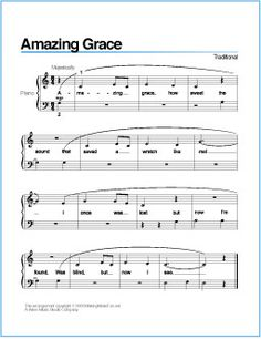 Amazing Grace | Free Printable Sheet Music for Piano
