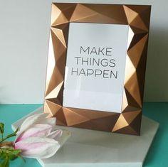 Copper Geometric 3D Photo Frame