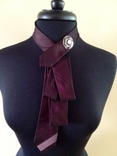 Tie necklace on Etsy, $10.00