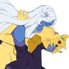 Blue Diamond and Yellow Diamond Blue Diamond Steven Universe, Steven Universe Ships, Yellow Diamond Su, Blue Yellow, Holly Blue, Steven Univese, Diamond Picture, Cartoon Art, Cute Drawings