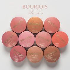 Bourjois blushes, I can't believe they are only twenty dollars! They are so nice! Bourjois Blush, Bourjois Makeup, Drugstore Makeup, Beauty Spa, Hair Beauty, Ambre, Blush Makeup, Girls Life, Bronzer