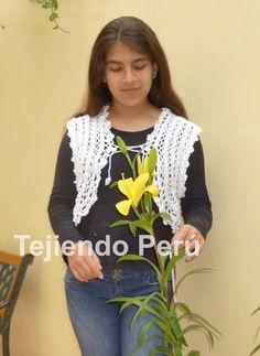 Tutorial: bolero romántico tejido a crochet con lana e hilo de algodón de una sola pieza (no tiene costuras!).