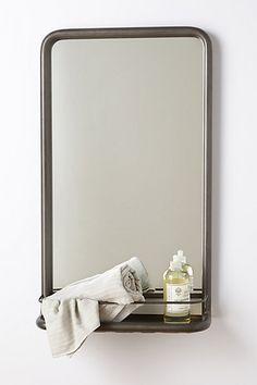 spare bathroom (Washroom Mirror #anthropologie)