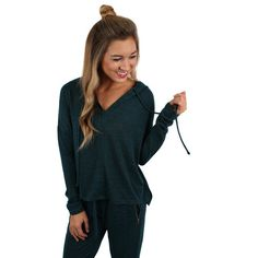 Hoodie- Feel comfortable while still looking stylish in this super soft hoodie!