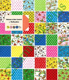 """Bear Country School 5/"""" CHARM PACK Quilt Squares by Berenstain Bears for Moda"""