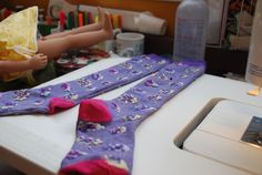 Making tights from socks