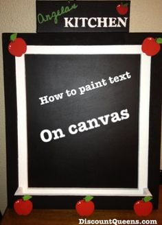 DIY: How to Paint Text on Canvas Just need computer/printer, chalk, pencil, paint, fine paint brush
