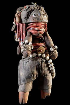 Africa | Ritual beaded Doll from the Mwila people of Angola/Namibia | ca. 1970