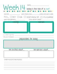 Free printable pregnancy journal.