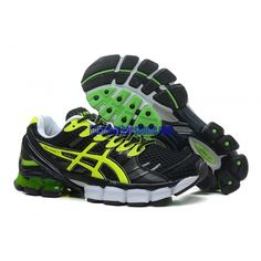 d96658083dc Men Women Asics Gel-Kinsei 4 Running Shoes Sneakers Black Green  K-003  -   105.69   Discount Asics Running Shoes Tennis For Sale