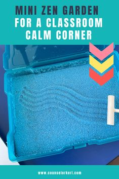 Looking for an easy to make calm corner activity? Set up these quick mini zen gardens for your students to use in the classroom or counseling. Great for school counseling calming activity or calm corner tools. Use these for coping skills and calming strategies in the classroom or in school counseling. Group Counseling, School Counseling, Elementary School Counselor, Elementary Schools, Coping Skills, Social Skills, Mini Zen Garden, Calming Activities, Zen Gardens