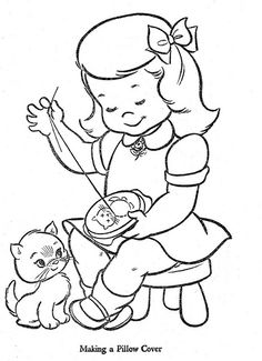 Color pg 21 Hi-Flyer Coloring Book Published in 1966 by Samuel Lowe Company of Kenosha, WisconsinHi-Flyer Coloring Book Published in 1966 by Samuel Lowe Company of Kenosha, Wisconsin Vintage Embroidery, Embroidery Applique, Cross Stitch Embroidery, Embroidery Patterns, Cross Stitching, Vintage Coloring Books, Coloring Book Pages, Sewing Art, Digi Stamps