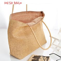 Beach bag fashion one shoulder knitted straw bag rattan bag casual shopping bag-inShoulder Bags from Luggage & Bags on Aliexpress.com