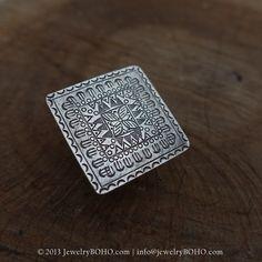 New to jewelryboho4u on Etsy: BOHO-Gypsy ring-Hippie ring-Bohemian ring-Statement ring R090-JewelryBOHO-Handmade sterling silver BOHO Tribal printed ring (60.50 USD)