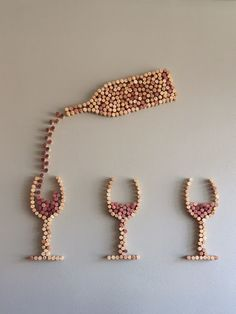 Awesome wall art you can make using our corks -- http://corks-n-crafts.com                                                                                                                                                     More