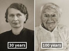 Then & Now: Same People Photographed As Young Adults And 100-Year-Olds