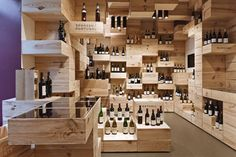 Wine Store Designed Around Shipping Crates
