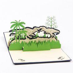 Dinosaur Birthday Card /Greeting Card (Postcard /Papercraft /3D PopUp)