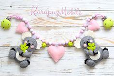 """Kinderwagenketten - Kinderwagenkette """"Koala mit Herzen"""" - ein Designerstück von KarapuzBoutique bei DaWanda"""