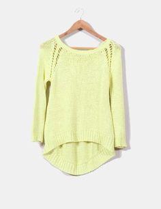 Jersey de punto amarillo de ZARA (otra temporada) comprado en Micolet por 6,50€ (precio inicial 25,99€)