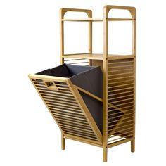Corner II TBH-002 Tivoli Bamboo Hamper Shelf