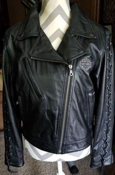 Vintage Harley Davidson Womens Black Leather Jacket Mint 20 Off Ebay Harleydavidson Harley Davidson Women Classic Harley Davidson Harley Davidson Clothing