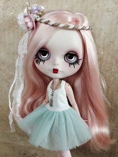 RESERVED for Melissa last Custom Blythe doll by BigEyesBlythe