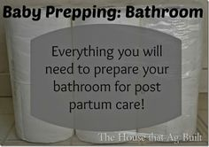 Get that bathroom ready for after baby comes!