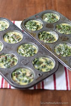 Spinach, Mushroom, and Goat Cheese Mini Frittata