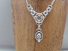 Axis of Awesome Chainmail Skull Necklace by Pharewings