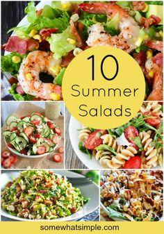 10 sizzling summer salads #dinnerideas