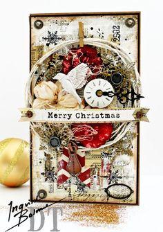 12 Days of Christmas: Day 8: Card by Georgia Heald for Ingvild Bolme #ingvildbolme #12daysofchristmas #christmascards