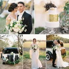 Elegant Black & Gold Art Deco Wedding Theme