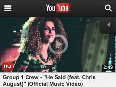 """Group 1 Crew - """"He Said (feat. Chris August)"""" (Official Music Video) I love this group! Praise And Worship Music, Praise Songs, Gospel Music, Music Lyrics, Chris August, Jamie Grace, Contemporary Christian Music, Christian Music Videos, Inspirational Music"""