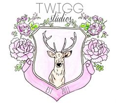 hand drawn custom logo for blog or shop by twiggstudios on Etsy, $50.00