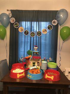 Puppy dog pals birthday party decor Puppy Birthday Parties, Birthday Party Decorations, 3rd Birthday, Birthday Ideas, Paw Patrol Birthday Theme, Dog Themed Parties, Milani, Bingo, First Birthdays