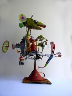 Gerard Collas singuliersouris cosmic -sculpteur-assembly-art