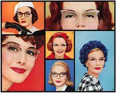 cat eyes glasses 1950s