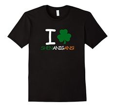 $12.95I love Shenanigans Shamrock Irish TShirt for St Pat...
