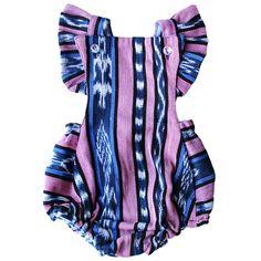 African Violet Ikat Bubble Romper | www.shopsweetthreads.com