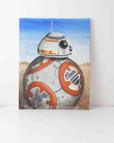 Star Wars Droid Art Painting Flat Canvas by TheSecondDimension - Star Wars Paint - Ideas of Star Wars Paint - Star Wars Droid Art Painting Flat Canvas by TheSecondDimension Star Wars Painting, Rock Painting, Paint And Sip, Star Wars Gifts, Canvas Art, Canvas Paintings, Star Wars Art, Types Of Art, Art World