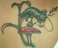 caterpillar mushroom tattoo Ink in Wonderland: 25 Mad Alice in Wonderland Tattoos