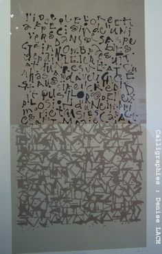 Denise Lach  calligraphy