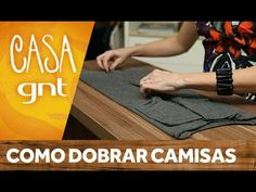 Como dobrar camisas | Micaela Góes