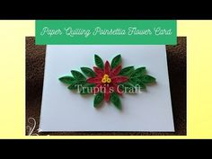 Paper Quilling Tutorial, Poinsettia Flower, Flower Cards, Flowers, Crafts, Manualidades, Poinsettia, Handmade Crafts, Royal Icing Flowers