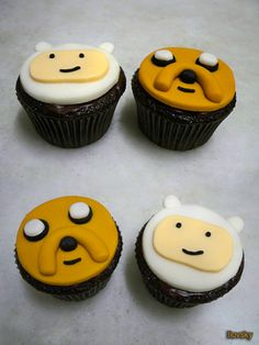 Adventure Time cupcakes. Don't eat my Finn Cakes!!!