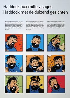 Captain Haddock from a display at the Comic museum in Brussels Bd Comics, Funny Comics, Haddock Tintin, Captain Haddock, Herge Tintin, Lucky Luke, Ligne Claire, Popular Art, Comic Strips